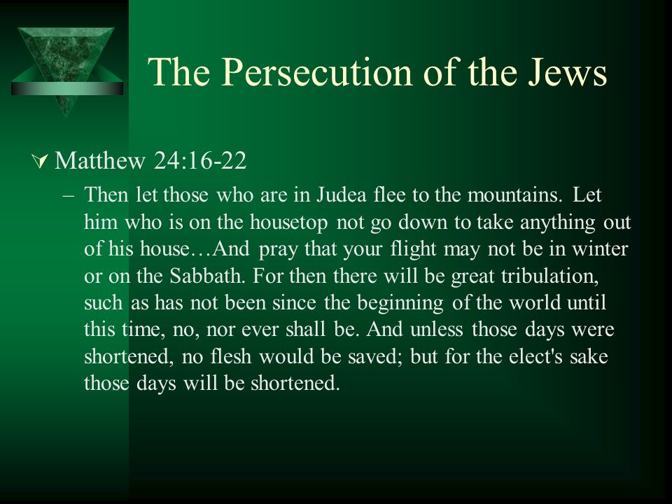 The Persecution of the Jews