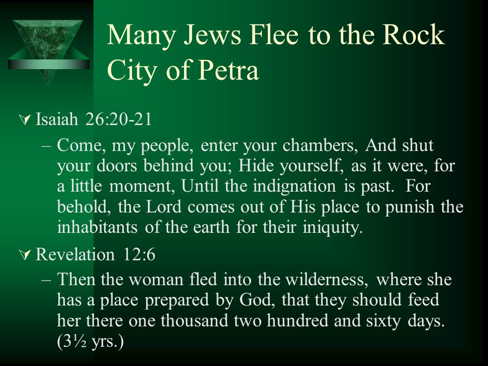 Many Jews Flee to the Rock City of Petra
