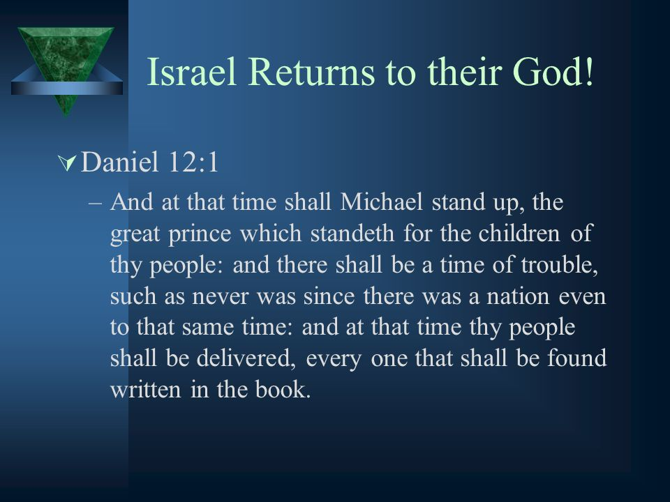 Israel Returns to their God!