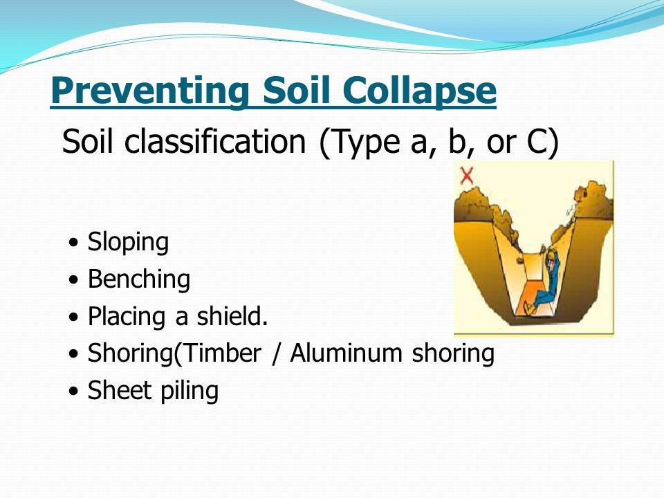 Preventing Soil Collapse