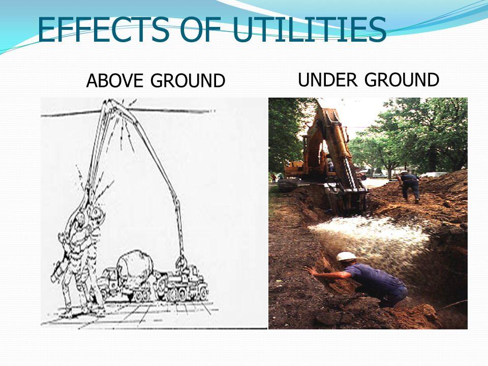 EFFECTS OF UTILITIES ABOVE GROUND UNDER GROUND