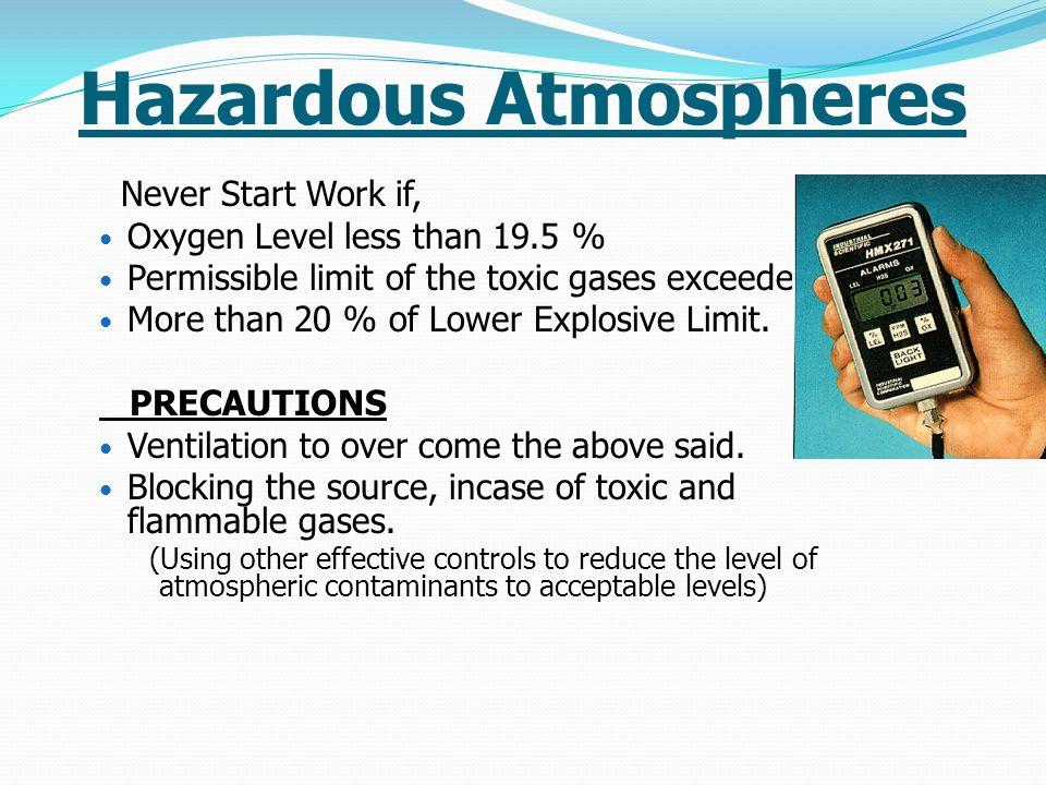 Hazardous Atmospheres