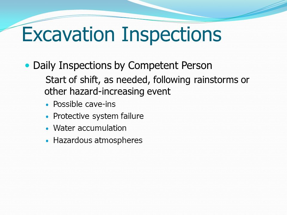Excavation Inspections