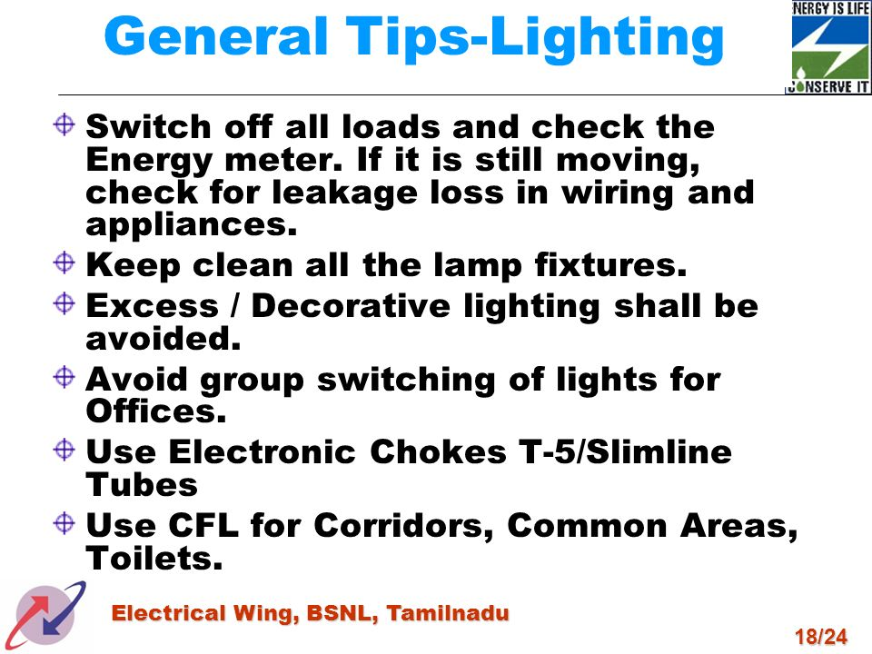 General Tips-Lighting