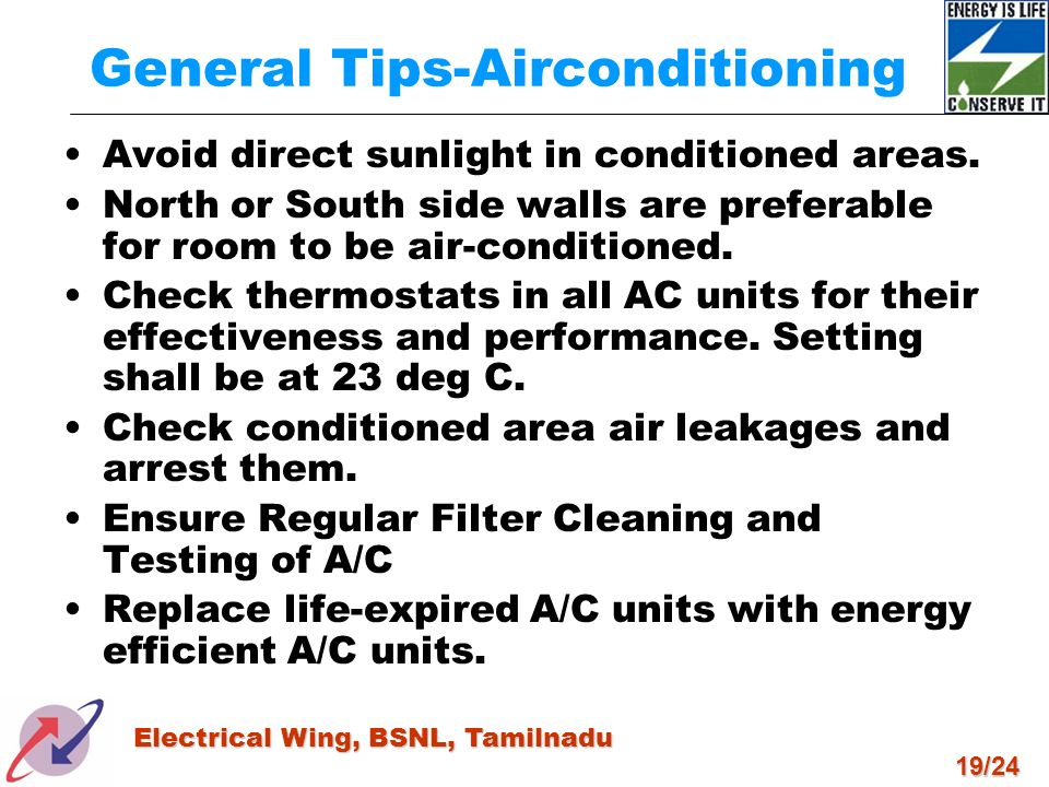 General Tips-Airconditioning