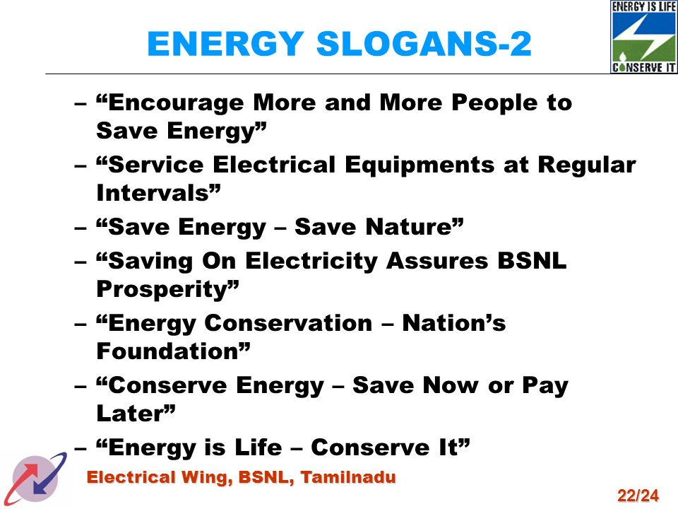 ENERGY SLOGANS-2 Encourage More and More People to Save Energy