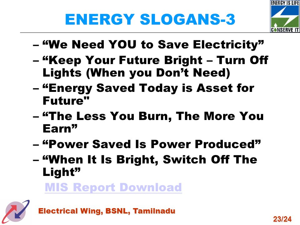 ENERGY SLOGANS-3 We Need YOU to Save Electricity