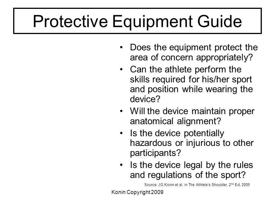 Protective Equipment Guide