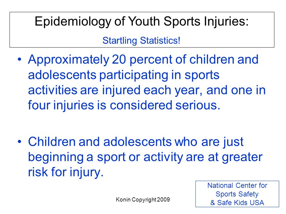 National Center for Sports Safety & Safe Kids USA