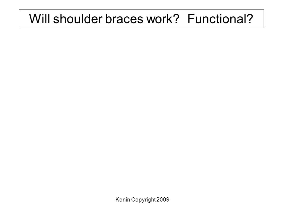 Will shoulder braces work Functional