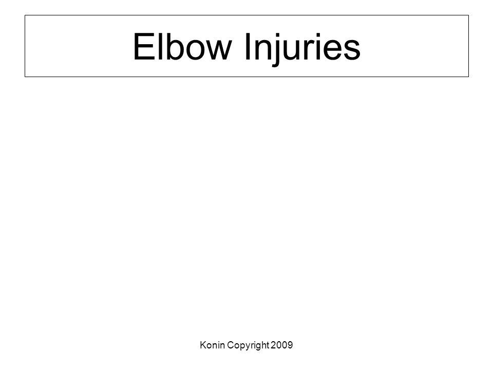 Elbow Injuries Konin Copyright 2009