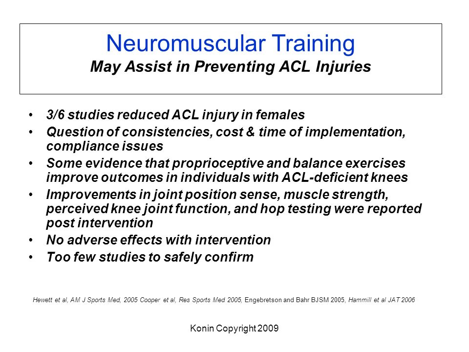 Neuromuscular Training May Assist in Preventing ACL Injuries