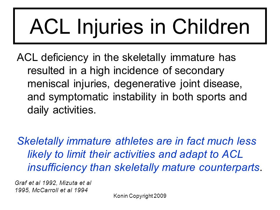 ACL Injuries in Children