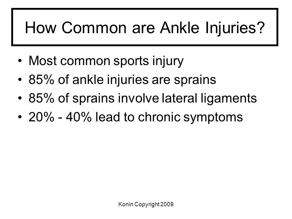 How Common are Ankle Injuries