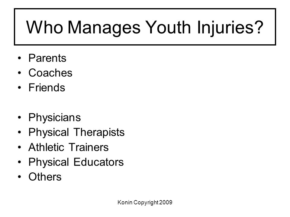 Who Manages Youth Injuries
