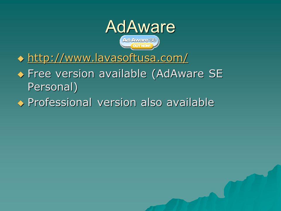 AdAware http://www.lavasoftusa.com/