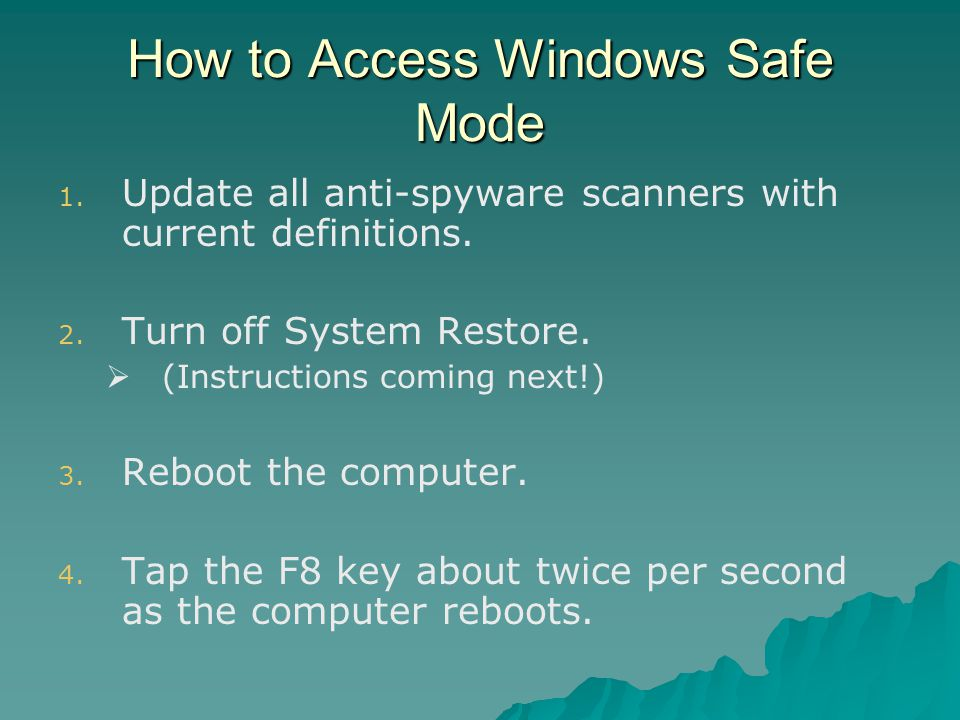 How to Access Windows Safe Mode