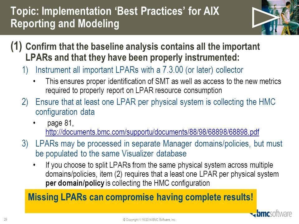 Topic: Implementation 'Best Practices' for AIX Reporting and Modeling