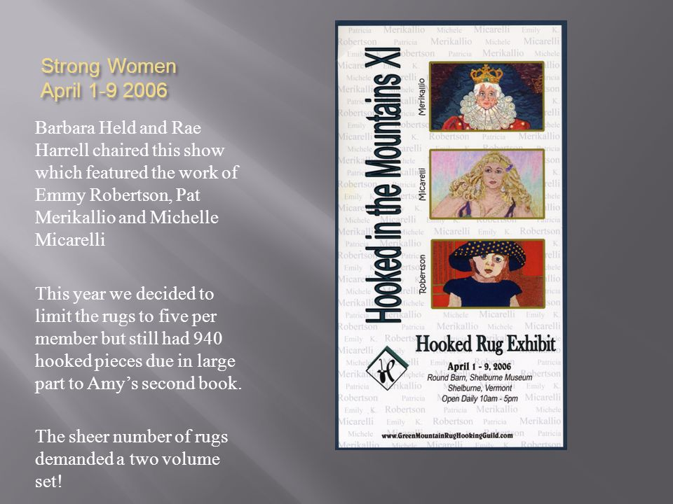 Strong Women April 1-9 2006