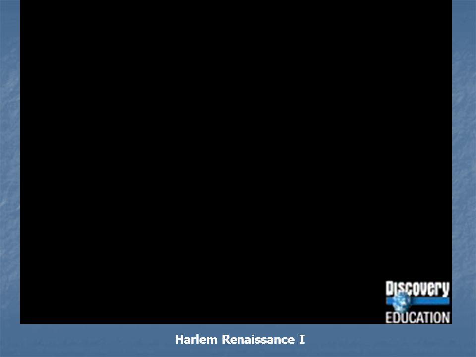 Harlem Renaissance I