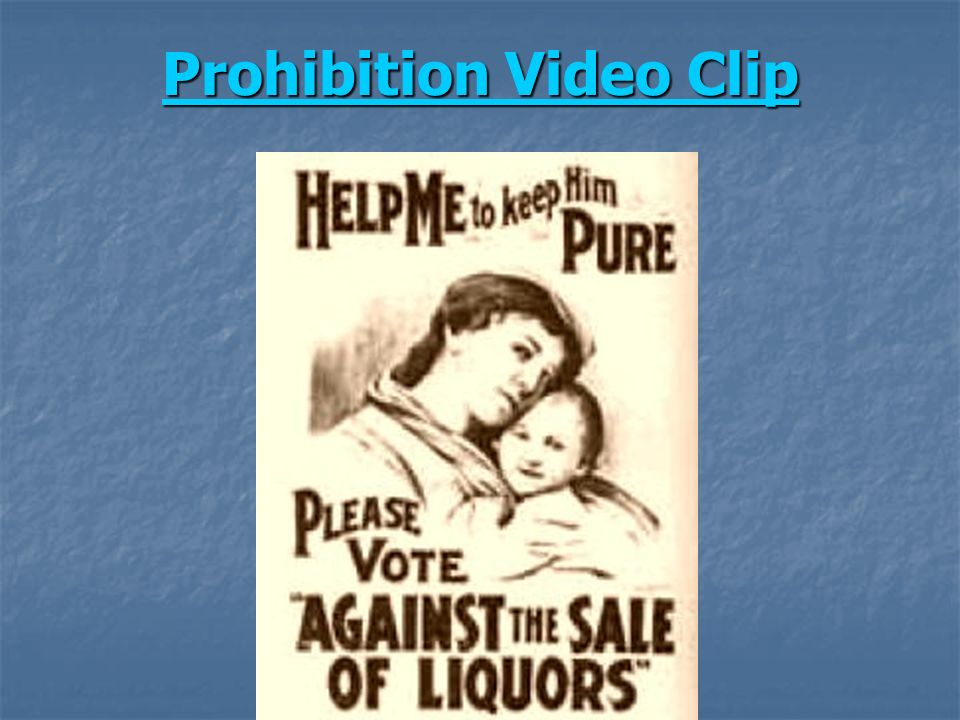 Prohibition Video Clip