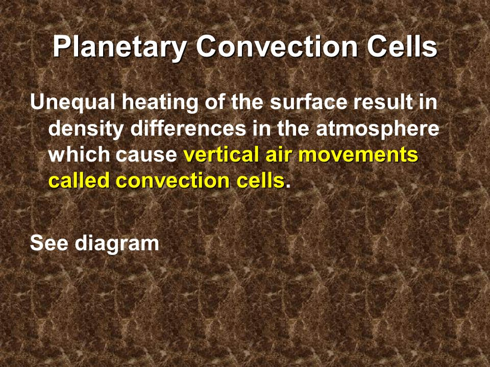 Planetary Convection Cells