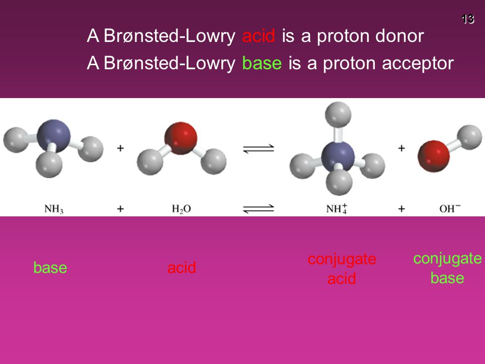 A Brønsted-Lowry acid is a proton donor