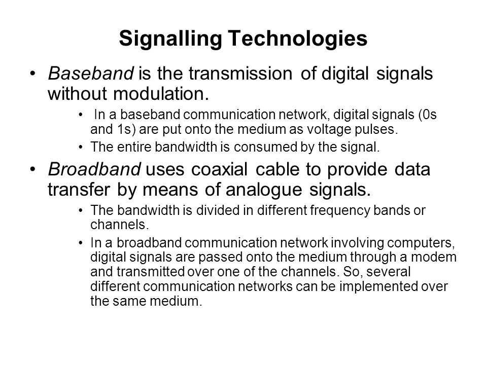 Signalling Technologies