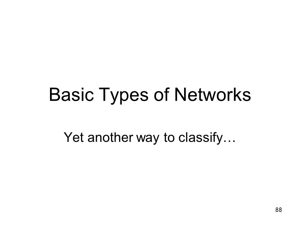 Basic Types of Networks