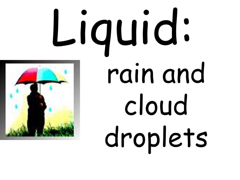 rain and cloud droplets