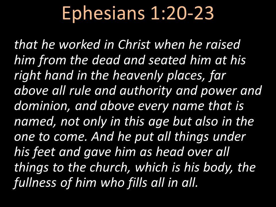 Ephesians 1:20-23