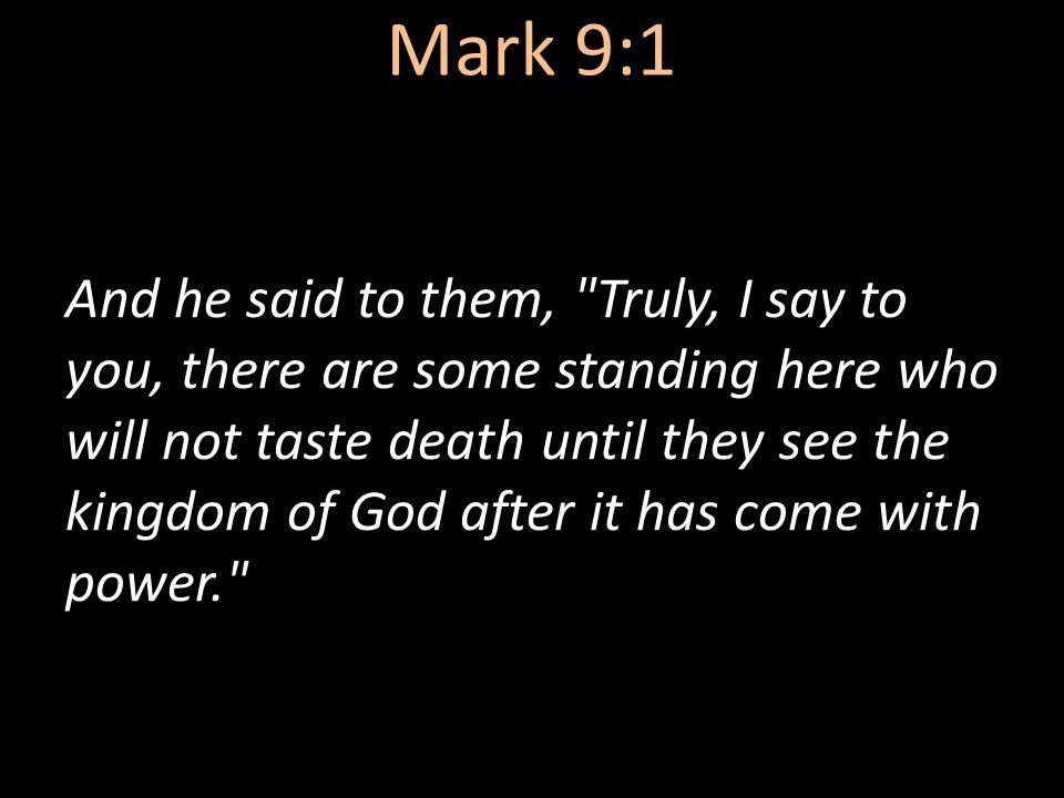 Mark 9:1