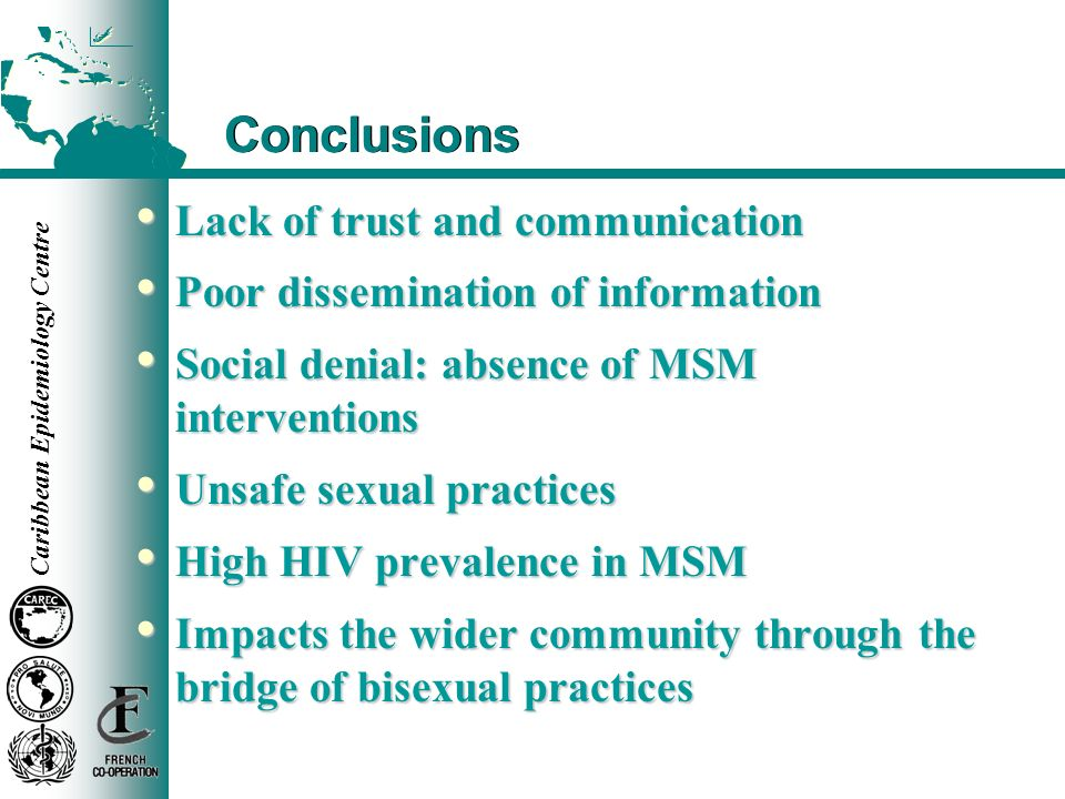 Conclusions Lack of trust and communication