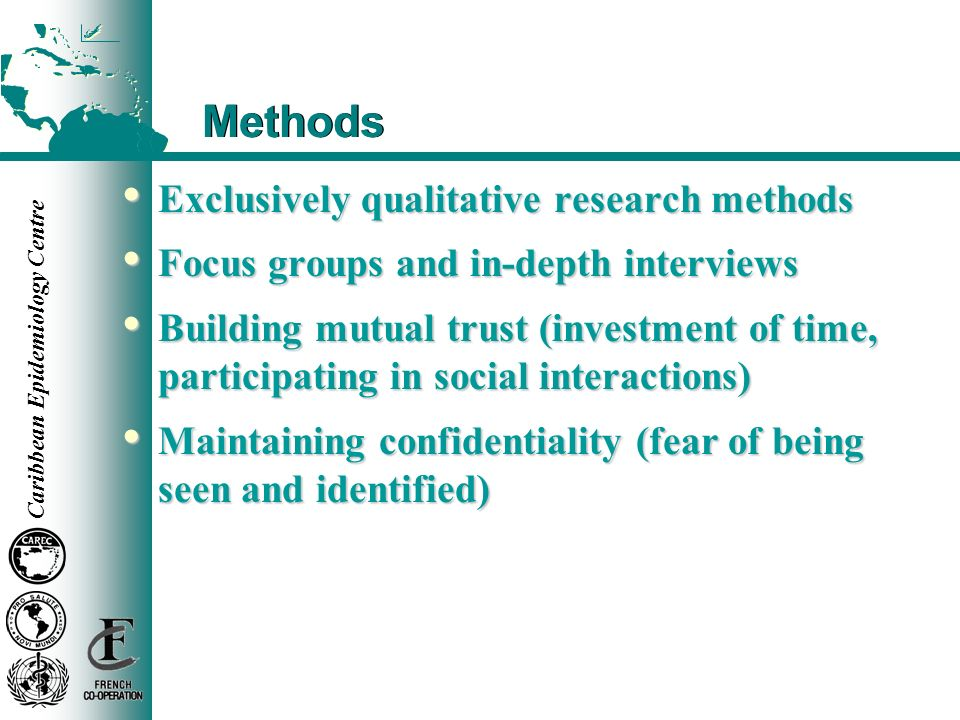 Methods Exclusively qualitative research methods