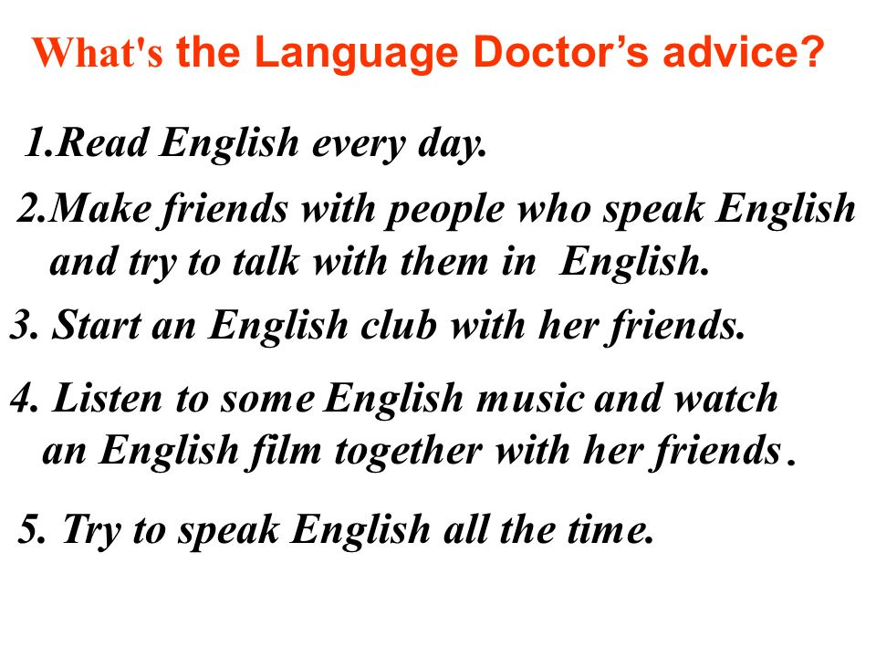 What s the Language Doctor's advice
