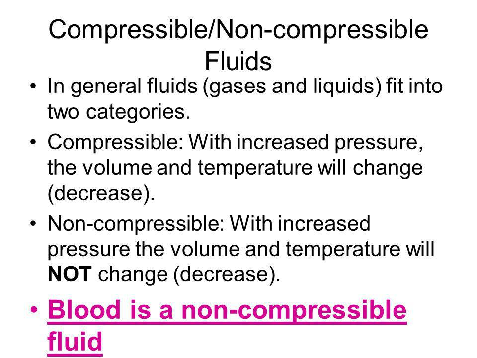 Compressible/Non-compressible Fluids