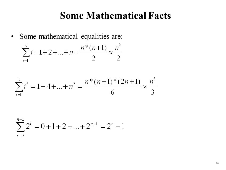 Some Mathematical Facts