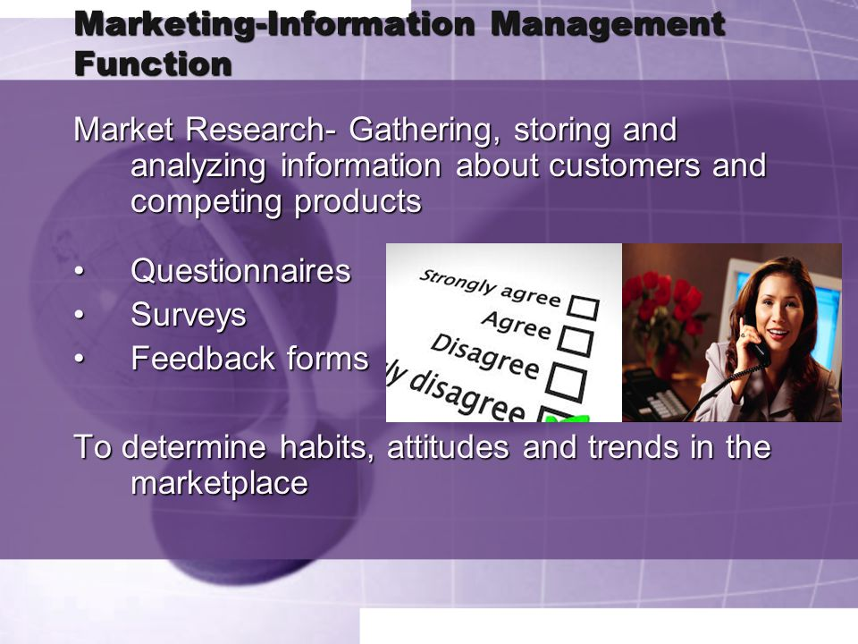 Marketing-Information Management Function