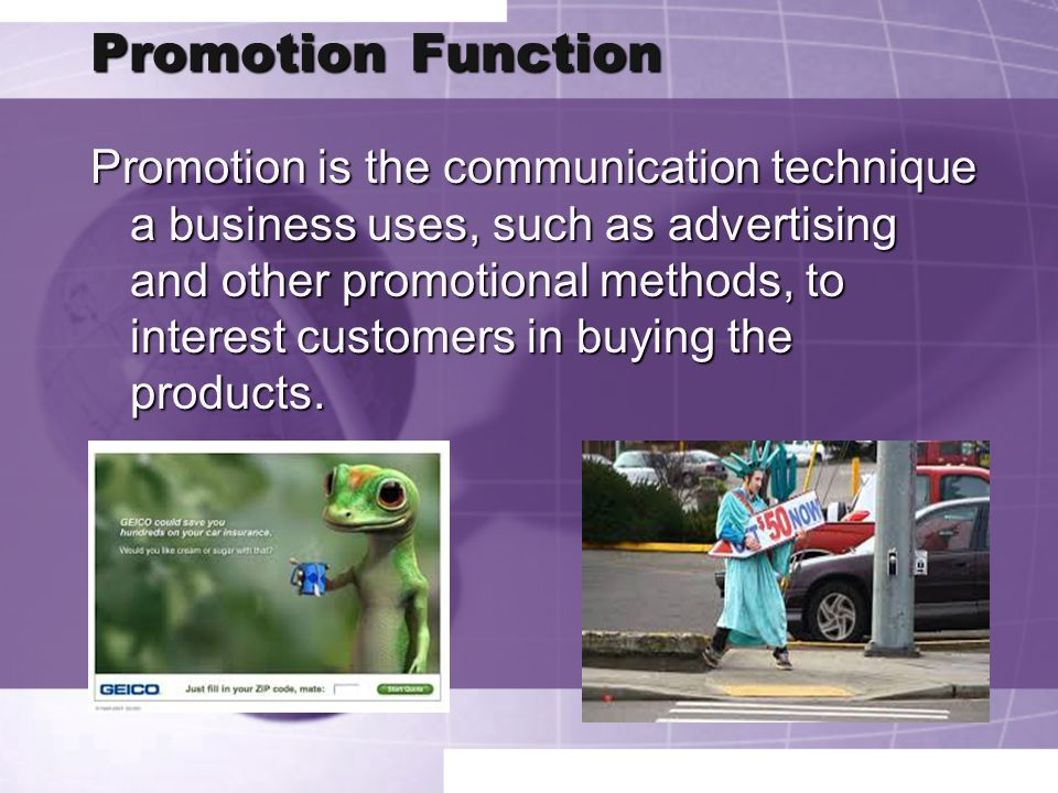 Promotion Function