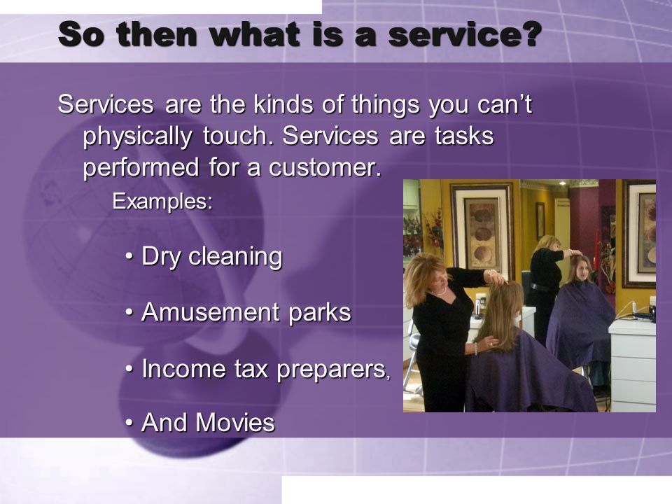 So then what is a service