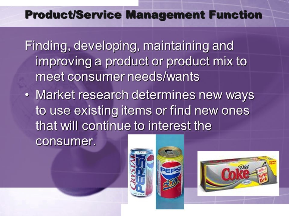 Product/Service Management Function