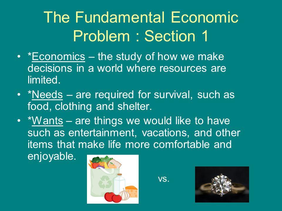 The Fundamental Economic Problem : Section 1