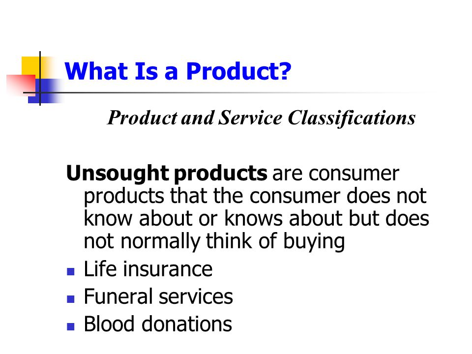 Product and Service Classifications