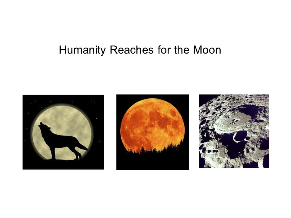 Humanity Reaches for the Moon