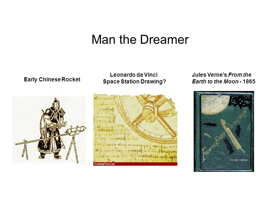 Man the Dreamer Leonardo da Vinci Space Station Drawing