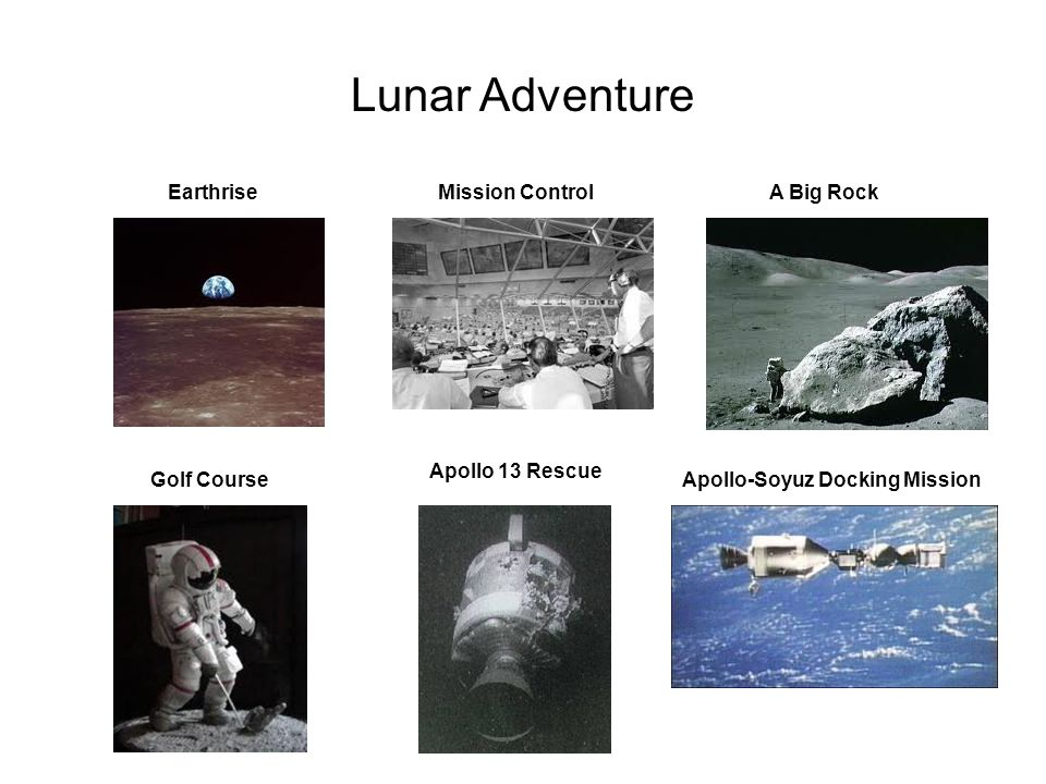 Lunar Adventure Earthrise Mission Control A Big Rock Apollo 13 Rescue