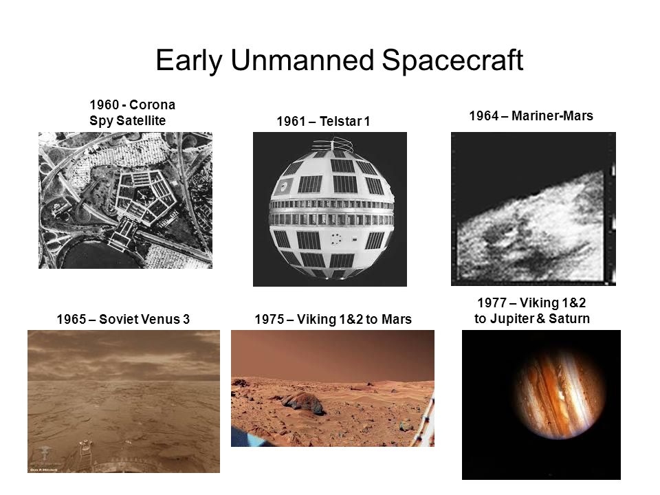 Early Unmanned Spacecraft