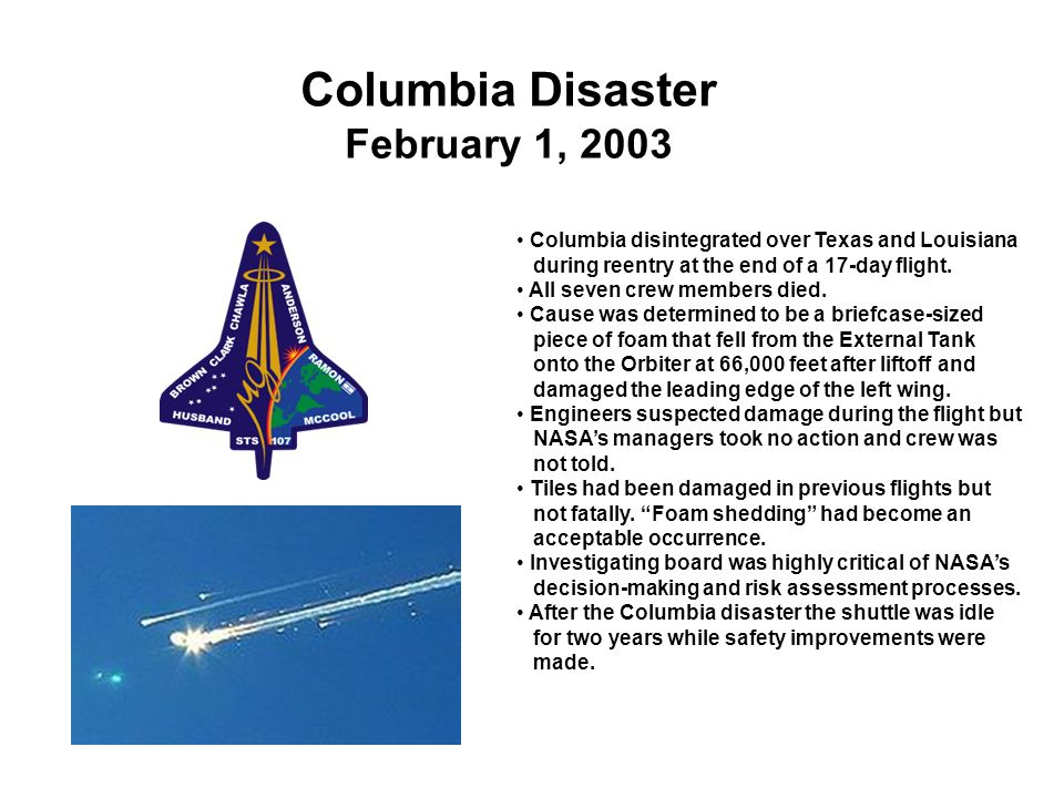 Columbia Disaster February 1, 2003