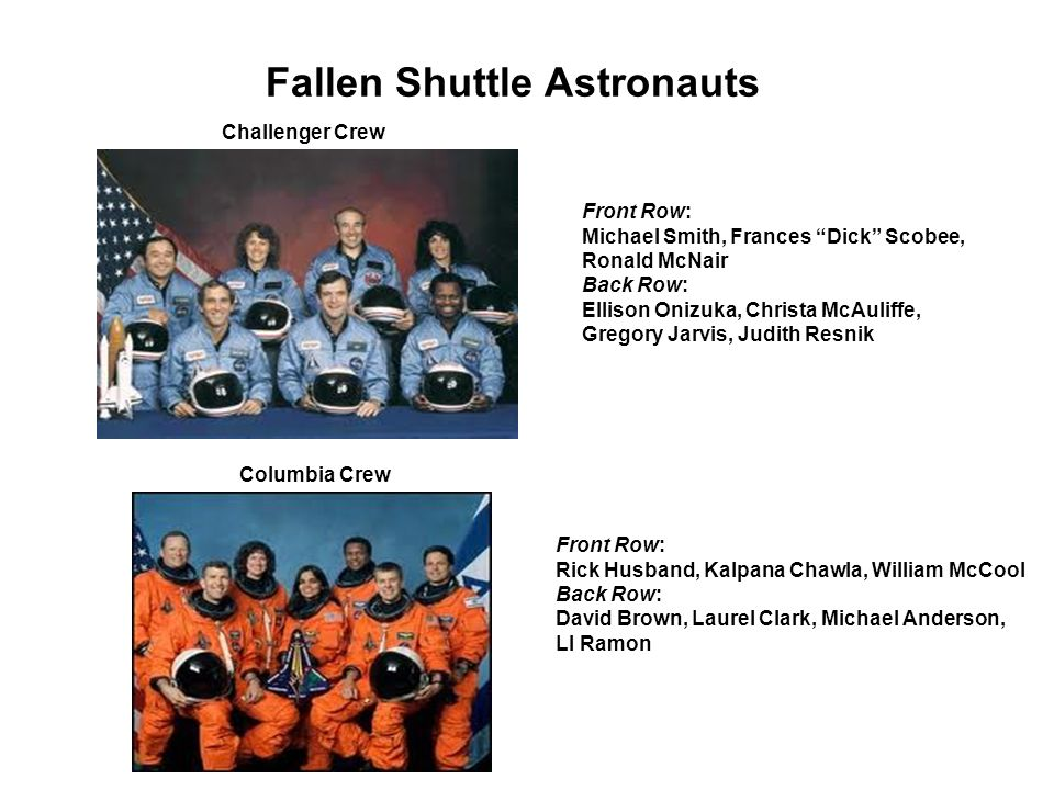 Fallen Shuttle Astronauts
