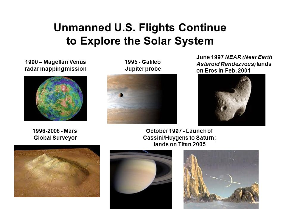 Unmanned U.S. Flights Continue to Explore the Solar System
